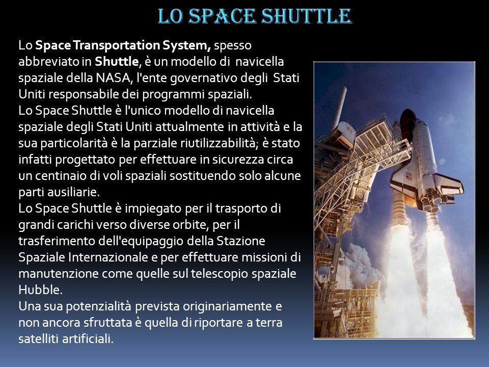 Lo Space Transportation System, spesso abbreviato in Shuttle, è un modello di navicella spaziale della NASA, l'ente governativo degli Stati Uniti resp