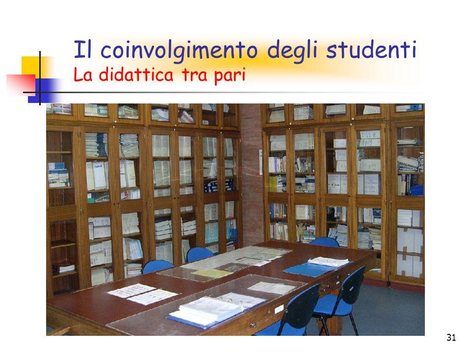 31 Il coinvolgimento degli studenti La didattica tra pari