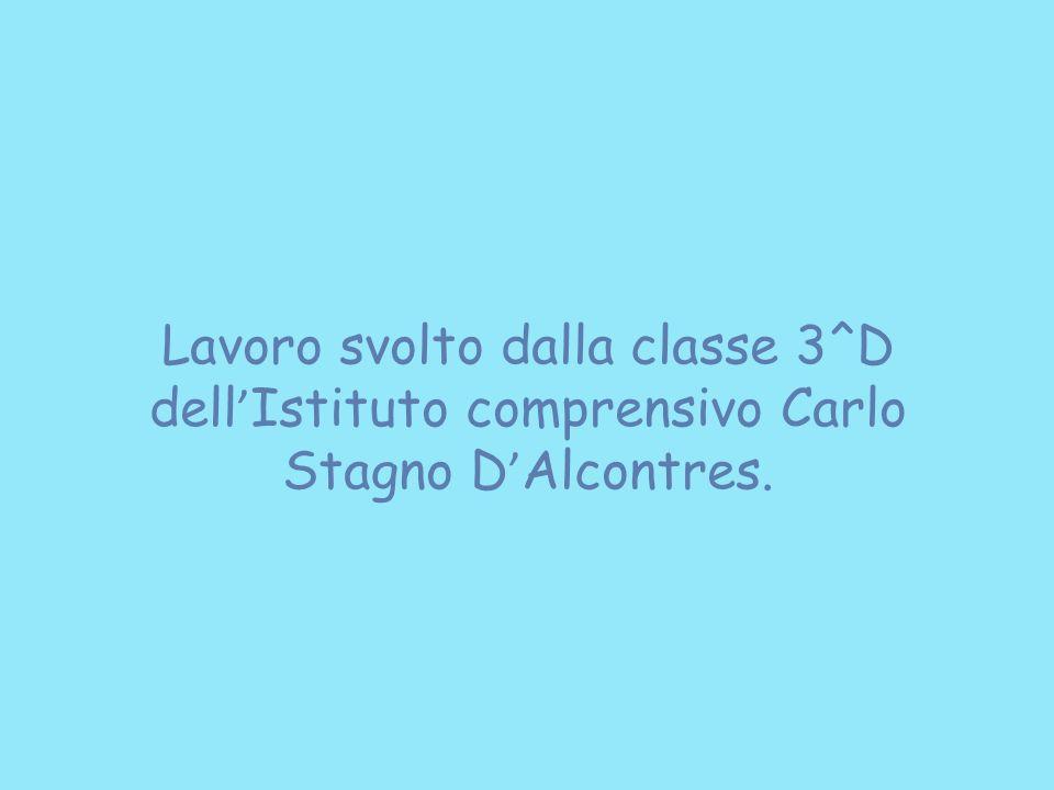 Lavoro svolto dalla classe 3^D dell Istituto comprensivo Carlo Stagno D Alcontres.