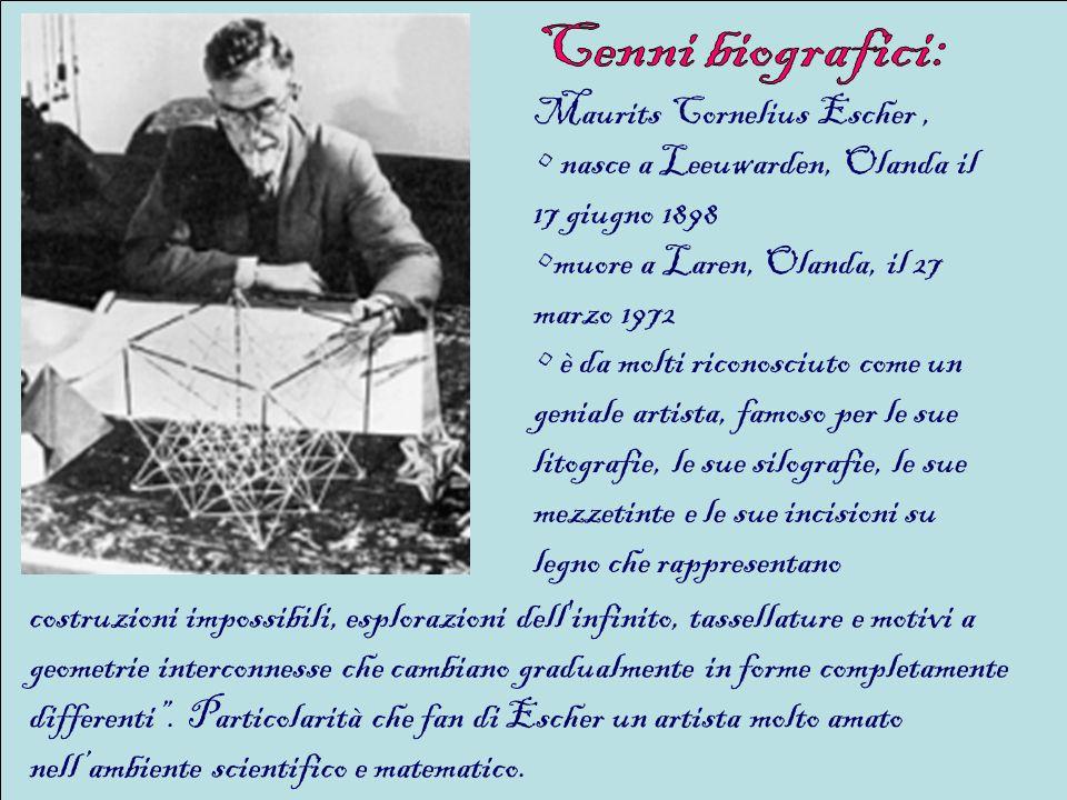 nel 1903 si trasferisce con la famiglia ad Arnhem, dove studia carpenteria e pianoforte fino alletà di 13 anni; tra il 1912 e il 1918 frequenta il liceo di Arnhem ma viene bocciato agli esami finali e ripetela seconda classe; nel 1919 per compiacere il padre si frequenta la facoltà di Architettura Haarlem che dopo pochi mesi lascia per seguire il corso di disegno grafico di Samuel Jesserum de Mesquita presso la Scuola di Arti Decorative; nel 1922 lascia la scuola: è questo un anno cruciale per Escher, per i suoi viaggi in Italia e in Spagna che trova particolarmente interessanti per i paesaggi, la ricchezza ornamentale, la prodigiosa complessità e la concezione matematica.