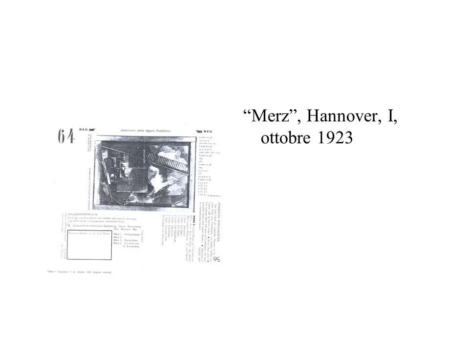Merz, Hannover, I, ottobre 1923