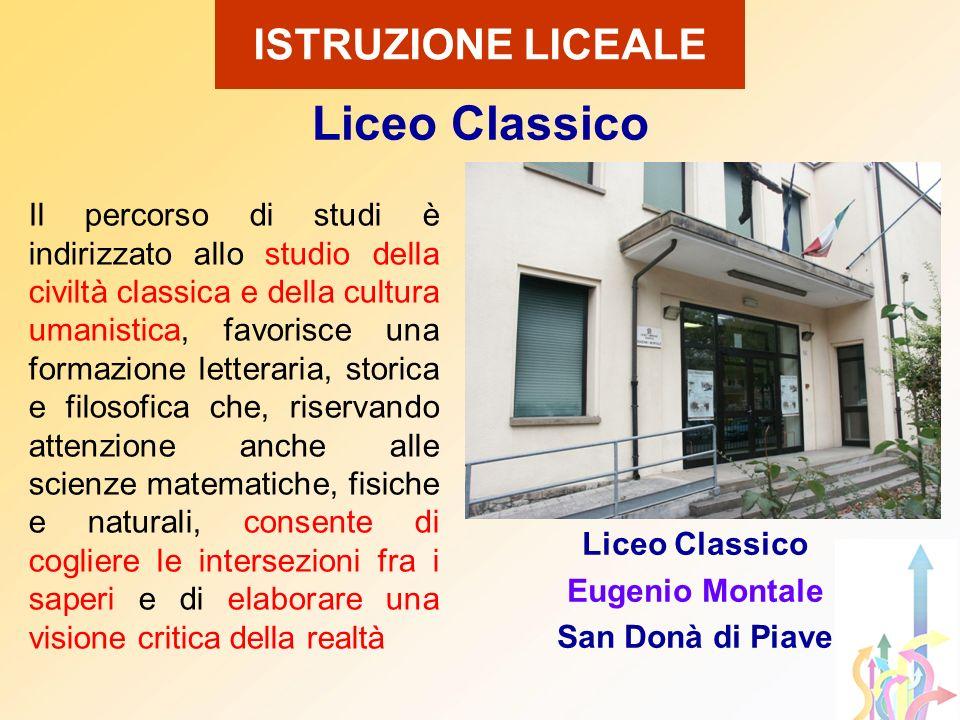 Il percorso di studi è indirizzato allo studio della civiltà classica e della cultura umanistica, favorisce una formazione letteraria, storica e filos