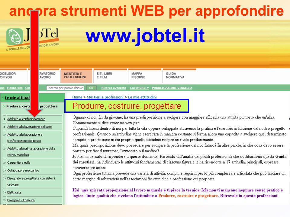 www.jobtel.it ancora strumenti WEB per approfondire Produrre, costruire, progettare