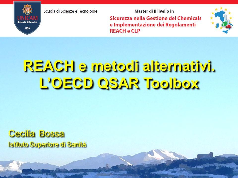 REACH e metodi alternativi.