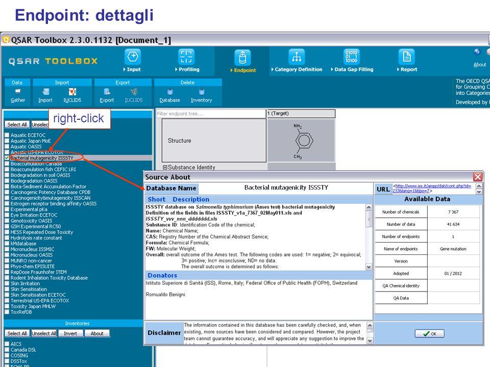 right-click Endpoint: dettagli