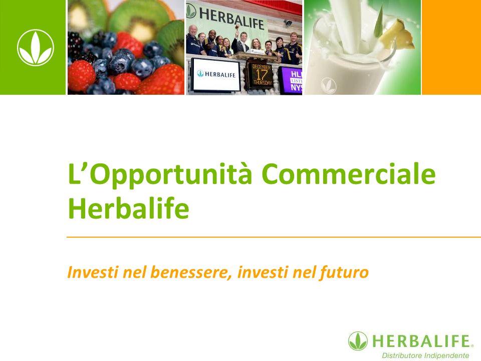 LOpportunità Commerciale Herbalife Investi nel benessere, investi nel futuro