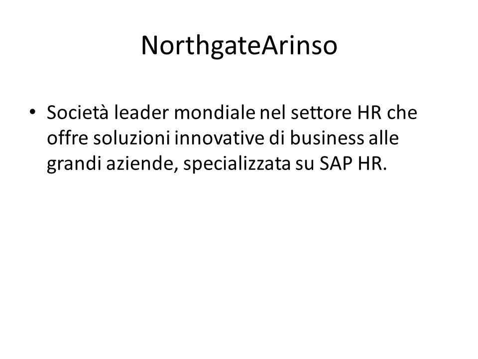 STORIA 2007 acquisizione di Arinso (multinazionale)da parte di Northgate di target +piccolo.