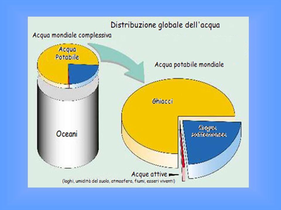 Acqua potabile disponibile sulla Terra 0,7%