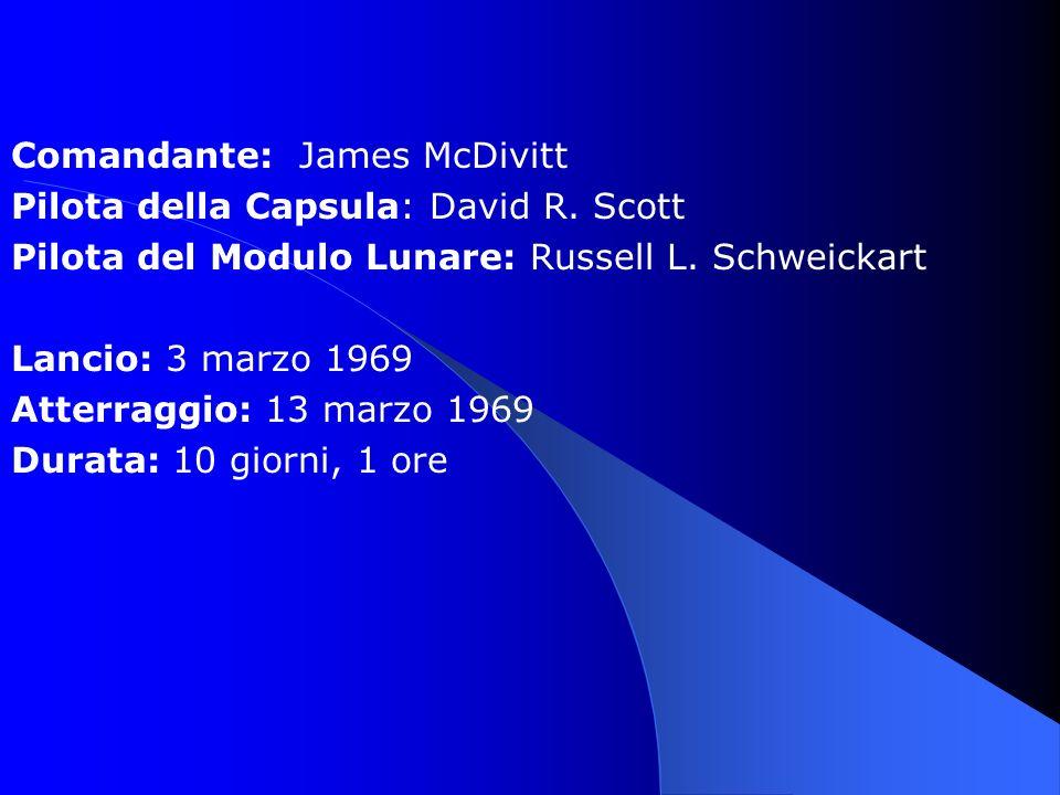 Comandante: James McDivitt Pilota della Capsula: David R.