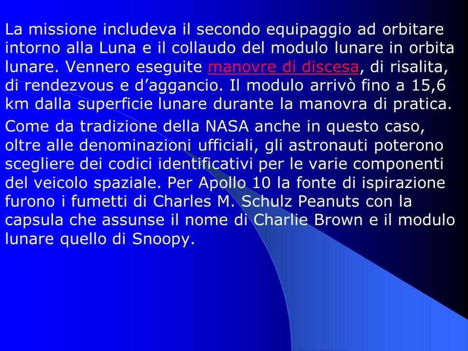 La missione includeva il secondo equipaggio ad orbitare intorno alla Luna e il collaudo del modulo lunare in orbita lunare. Vennero eseguite manovre d