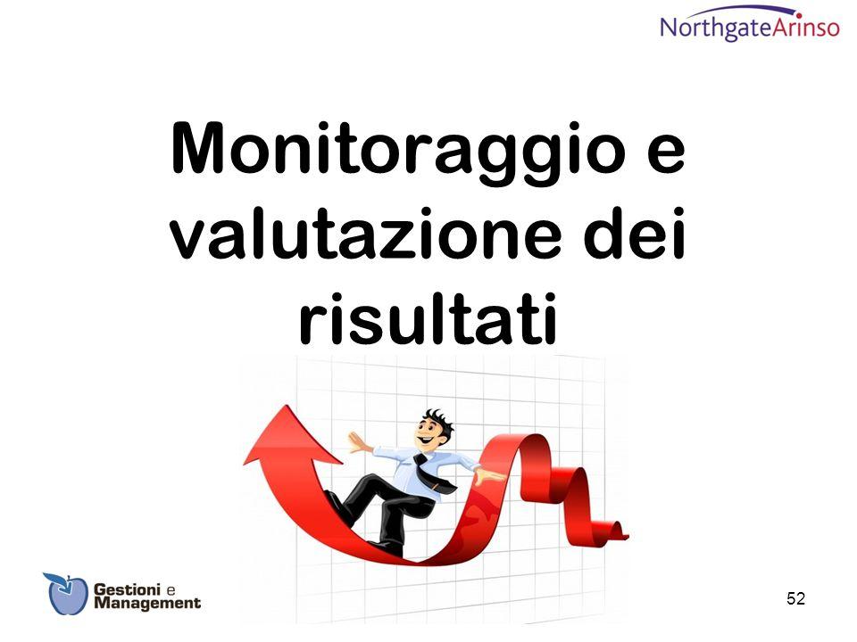 Monitoraggio e valutazione dei risultati 52