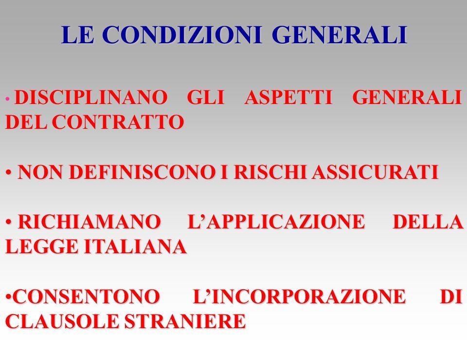 IL DOCUMENTO DI POLIZZA RIPORTA LA RAGIONE SOCIALE DELLASSICURATORE LA RAGIONE SOCIALE DELLASSICURATORE LIMPEGNO CONTRATTUALE LIMPEGNO CONTRATTUALE LA SCHEDA INTERNALA SCHEDA INTERNA LE VARIE CLAUSOLE (INSTITUTE CARGO CLAUSES A, B e C)LE VARIE CLAUSOLE (INSTITUTE CARGO CLAUSES A, B e C)