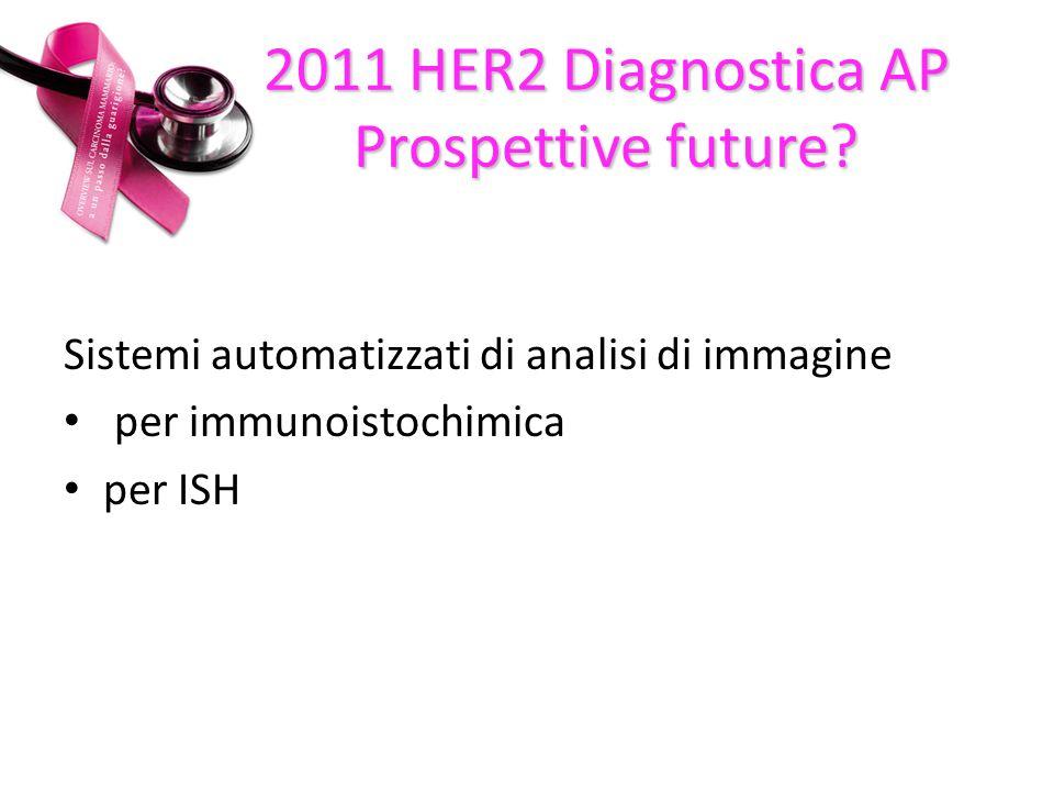 Sistemi automatizzati di analisi di immagine per immunoistochimica per ISH 2011 HER2 Diagnostica AP Prospettive future?