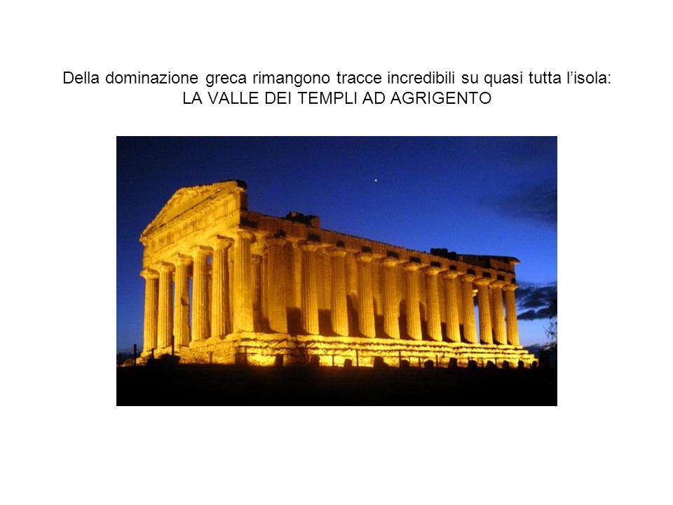 La Valle dei Templi è un area archeologica della Sicilia caratterizzata dall eccezionale stato di conservazione e da una serie di importanti templi dorici del periodo ellenico.
