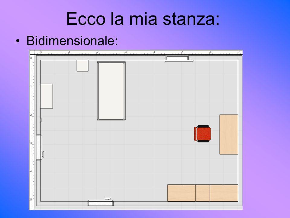 Ecco la mia stanza: Bidimensionale: