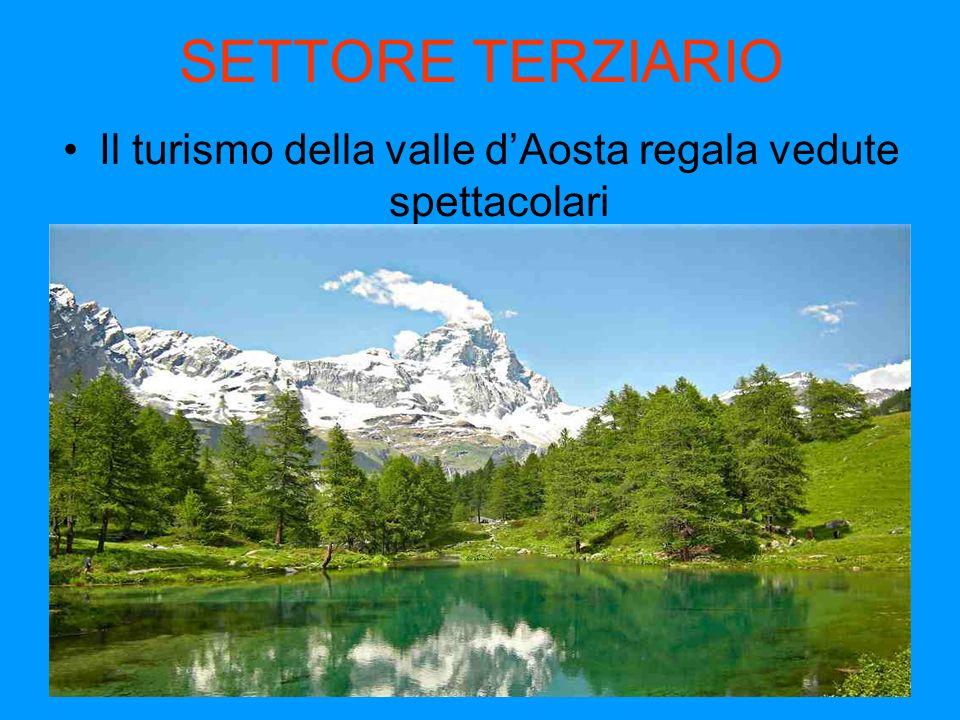 SETTORE TERZIARIO Il turismo della valle dAosta regala vedute spettacolari