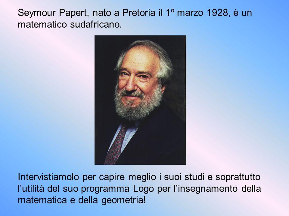 Seymour Papert, nato a Pretoria il 1º marzo 1928, è un matematico sudafricano. Intervistiamolo per capire meglio i suoi studi e soprattutto lutilità d
