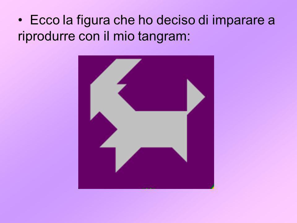 Ecco la figura che ho deciso di imparare a riprodurre con il mio tangram: