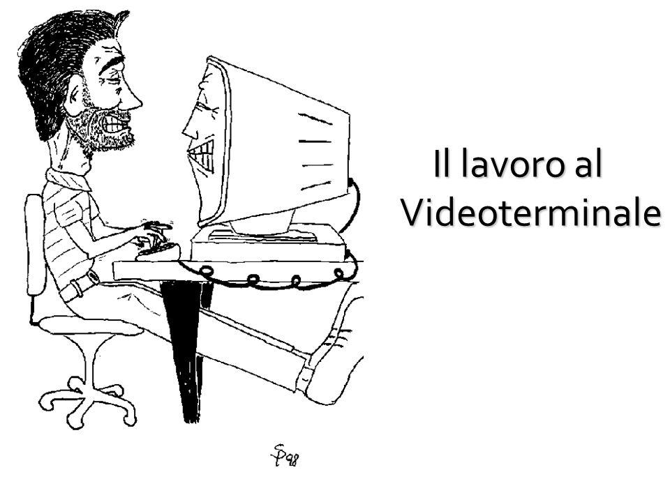 IL LAVORO AL VIDEOTERMINALE (VDT): RIFERIMENTI NORMATIVI Legge di riferimento: Titolo VII del D.Lgs.