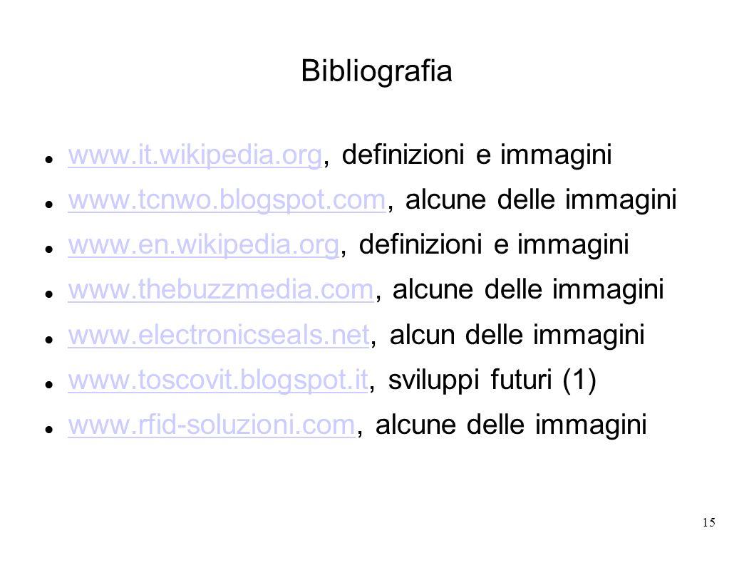 15 Bibliografia www.it.wikipedia.org, definizioni e immagini www.it.wikipedia.org www.tcnwo.blogspot.com, alcune delle immagini www.tcnwo.blogspot.com
