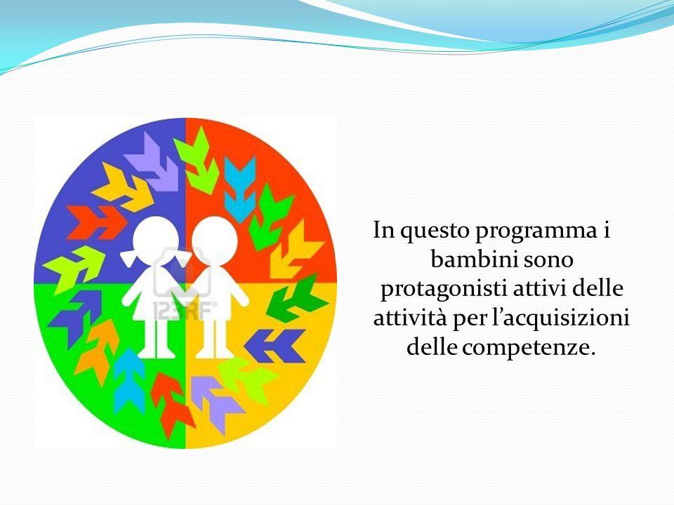 In questo programma i bambini sono protagonisti attivi delle attività per lacquisizioni delle competenze.