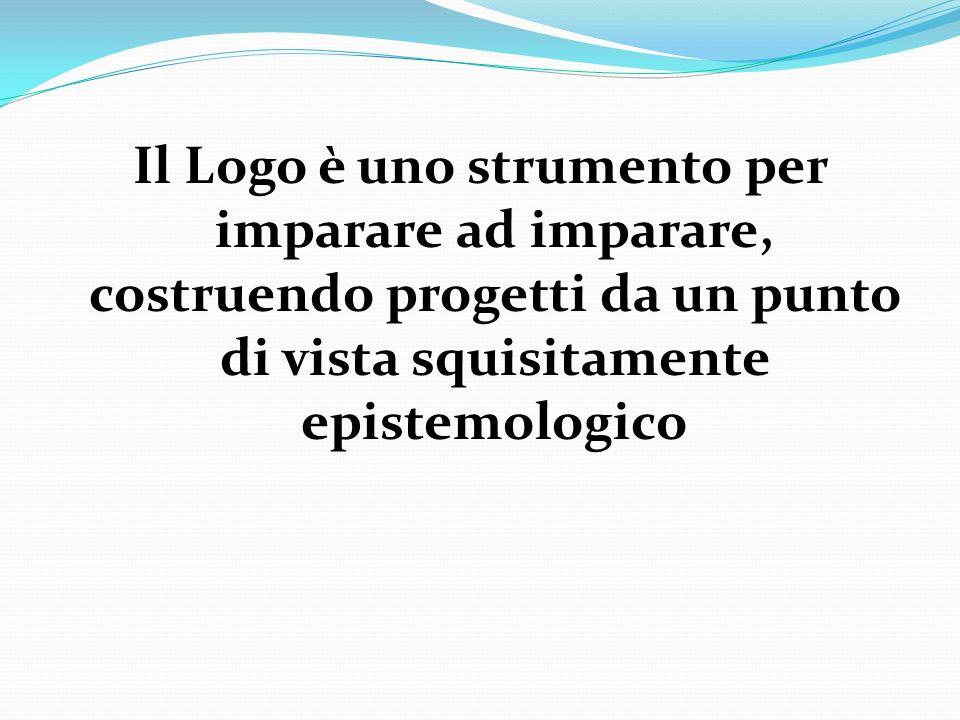Il Logo è uno strumento per imparare ad imparare, costruendo progetti da un punto di vista squisitamente epistemologico