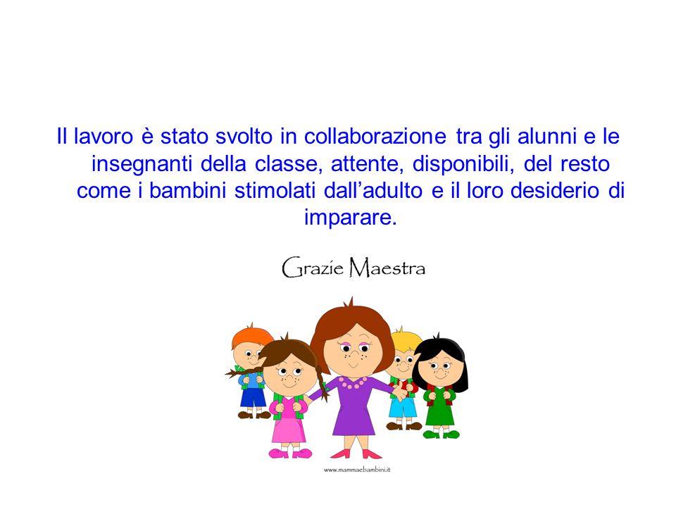 Il lavoro è stato svolto in collaborazione tra gli alunni e le insegnanti della classe, attente, disponibili, del resto come i bambini stimolati dalla