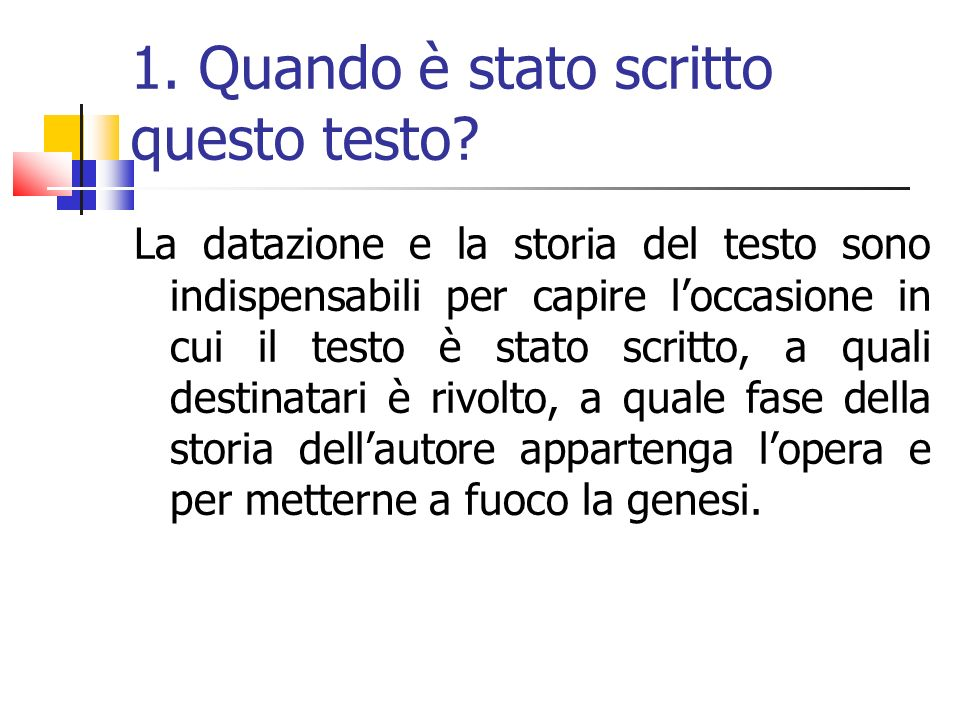 Esempio sul testo Il sonetto di Dante presenta uno stile abbastanza piano e scorrevole, ben adatto alla raffigurazione armoniosa del soggetto.