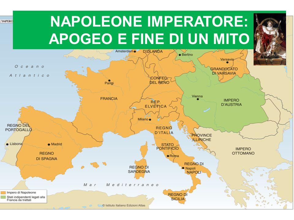 Napoleone riesce a fuggire dallIsola dElba (1815) e torna in Francia accolto da molti sostenitori: è il governo dei Cento giorni La coalizione lo sconfigge ancora a Waterloo (1815) e viene mandato in esilio nellisola di SantElena nellAtlantico, dove muore il 5 maggio 1821.