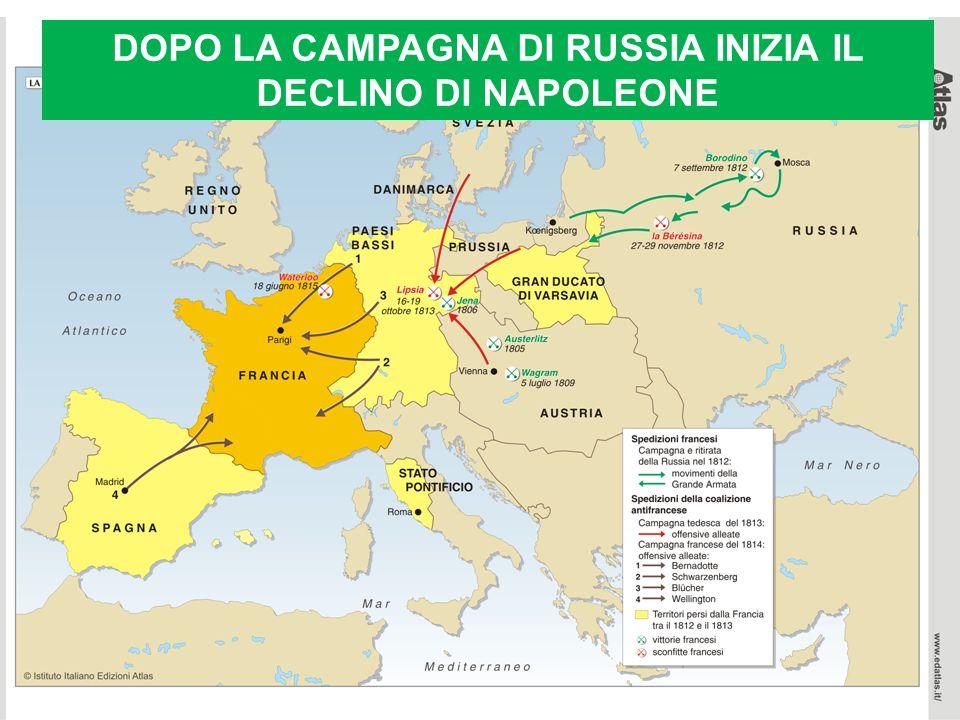 DOPO LA CAMPAGNA DI RUSSIA INIZIA IL DECLINO DI NAPOLEONE