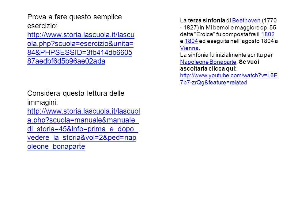 Prova a fare questo semplice esercizio: http://www.storia.lascuola.it/lascu ola.php?scuola=esercizio&unita= 84&PHPSESSID=3fb414db6605 87aedbf6d5b96ae0
