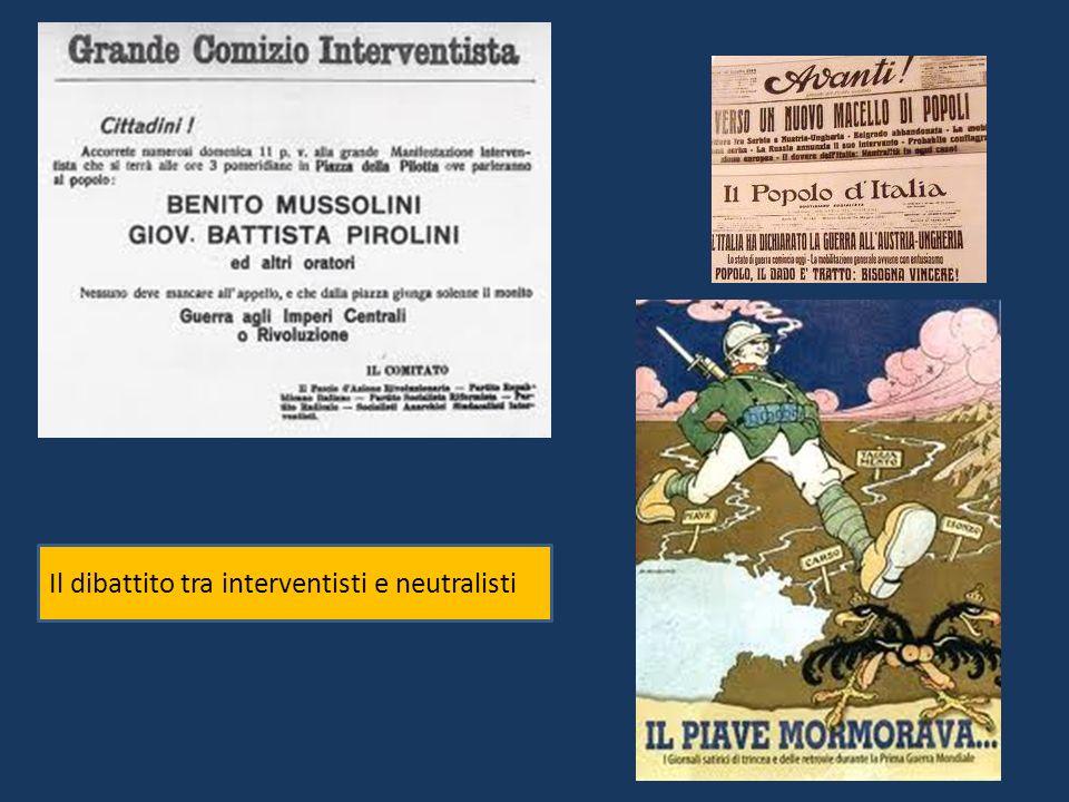 LLLENTRATA IN GUERRA PATTO DI LONDRA LItalia prometteva di entrare in guerra a fianco dellIntesa in cambio avrebbe avuto non solo le terre irredente, ma anche dei territori nei Balcani.