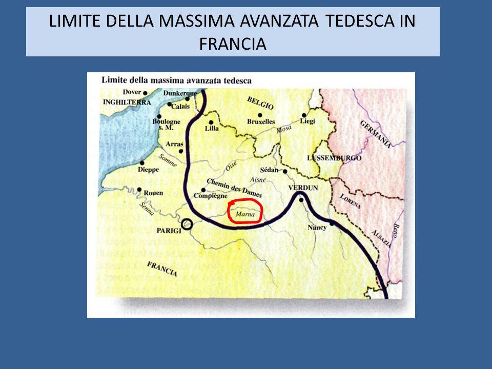 LIMITE DELLA MASSIMA AVANZATA TEDESCA IN FRANCIA