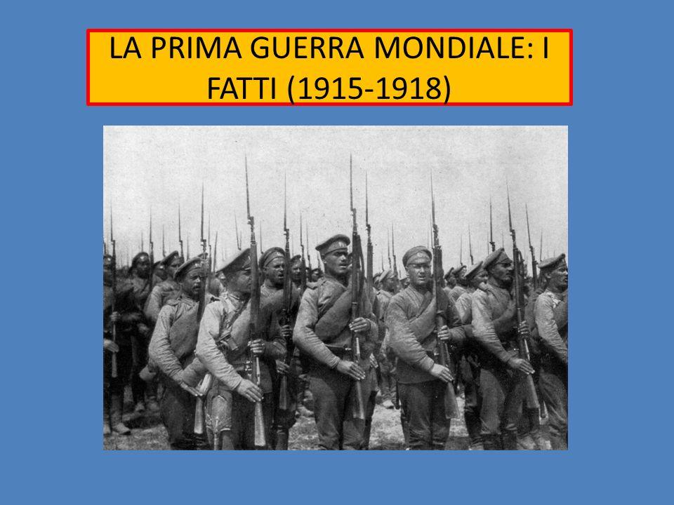 LA PRIMA GUERRA MONDIALE: I FATTI (1915-1918)