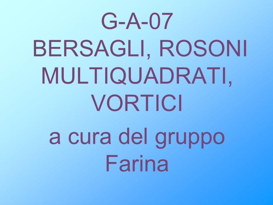 G-A-07 BERSAGLI, ROSONI MULTIQUADRATI, VORTICI a cura del gruppo Farina