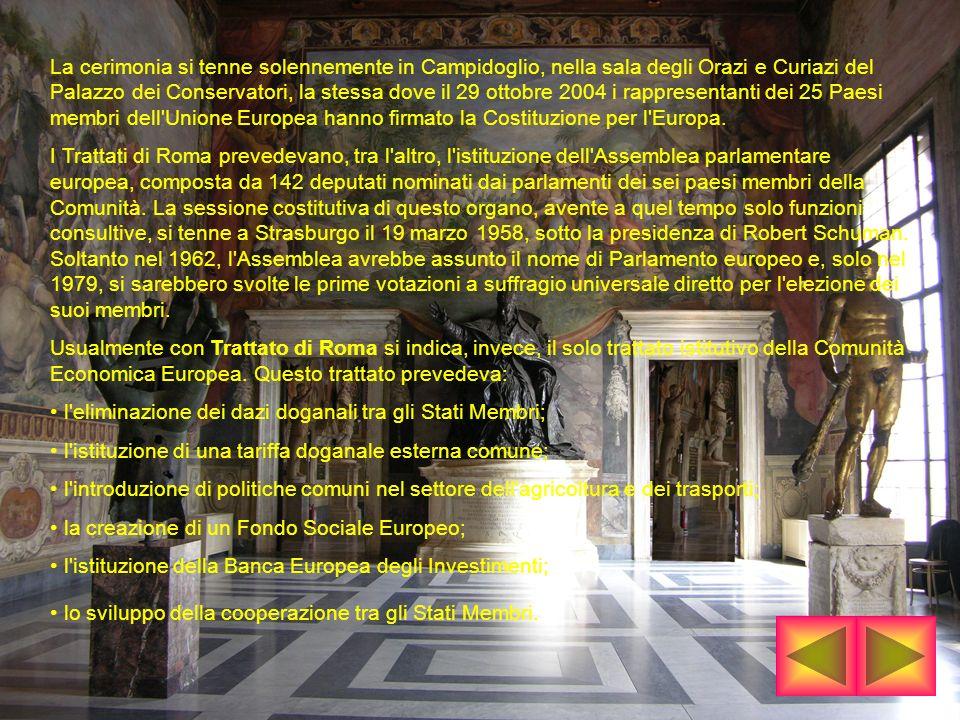 La cerimonia si tenne solennemente in Campidoglio, nella sala degli Orazi e Curiazi del Palazzo dei Conservatori, la stessa dove il 29 ottobre 2004 i