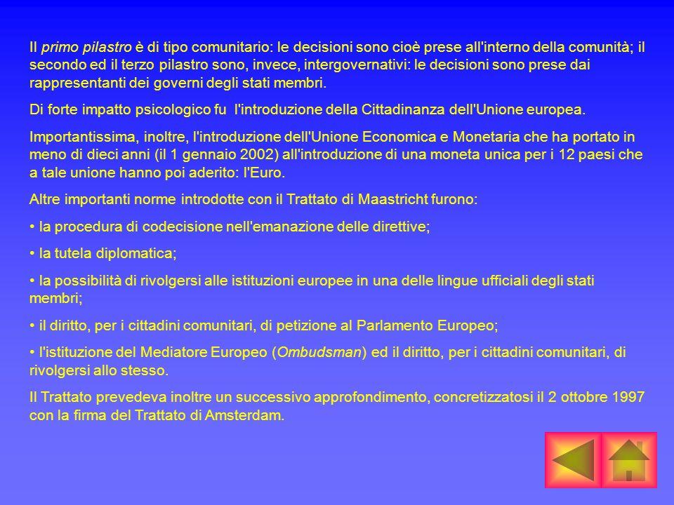L Atto unico europeo è una revisione dei trattati di Roma.