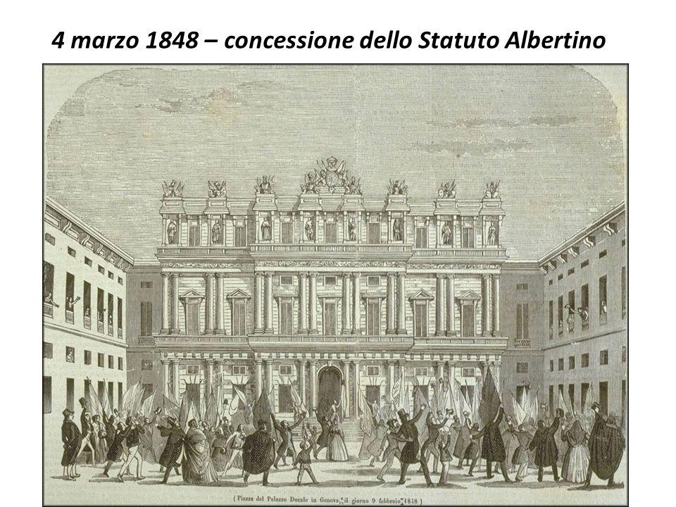 4 marzo 1848 – concessione dello Statuto Albertino