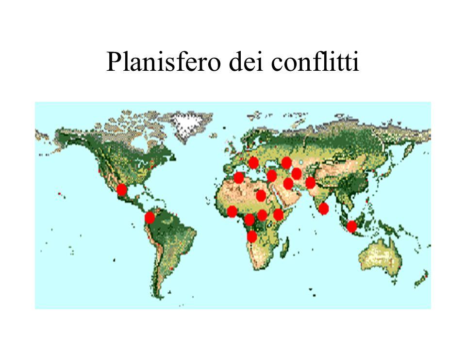 Planisfero dei conflitti