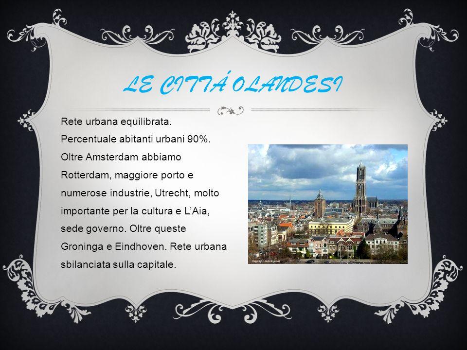 Rete urbana equilibrata.Percentuale abitanti urbani 90%.