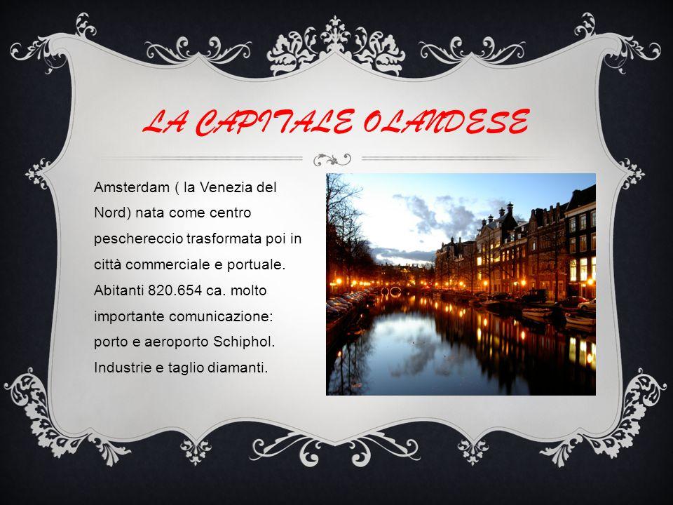 Amsterdam ( la Venezia del Nord) nata come centro peschereccio trasformata poi in città commerciale e portuale.