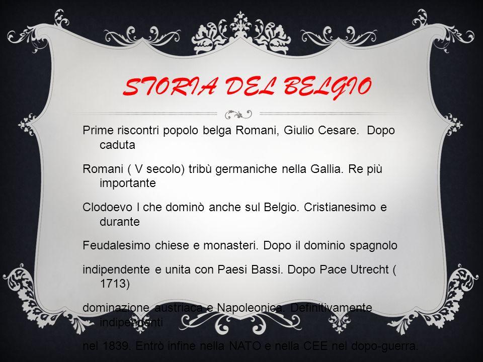 STORIA DEL BELGIO Prime riscontri popolo belga Romani, Giulio Cesare.