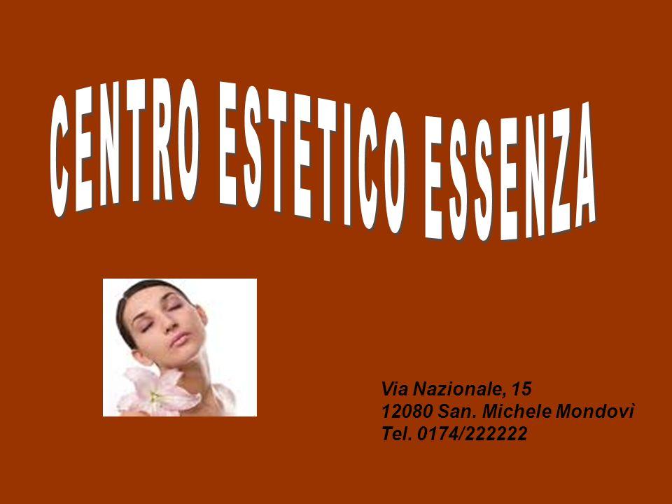 Via Nazionale, 15 12080 San. Michele Mondovì Tel. 0174/222222