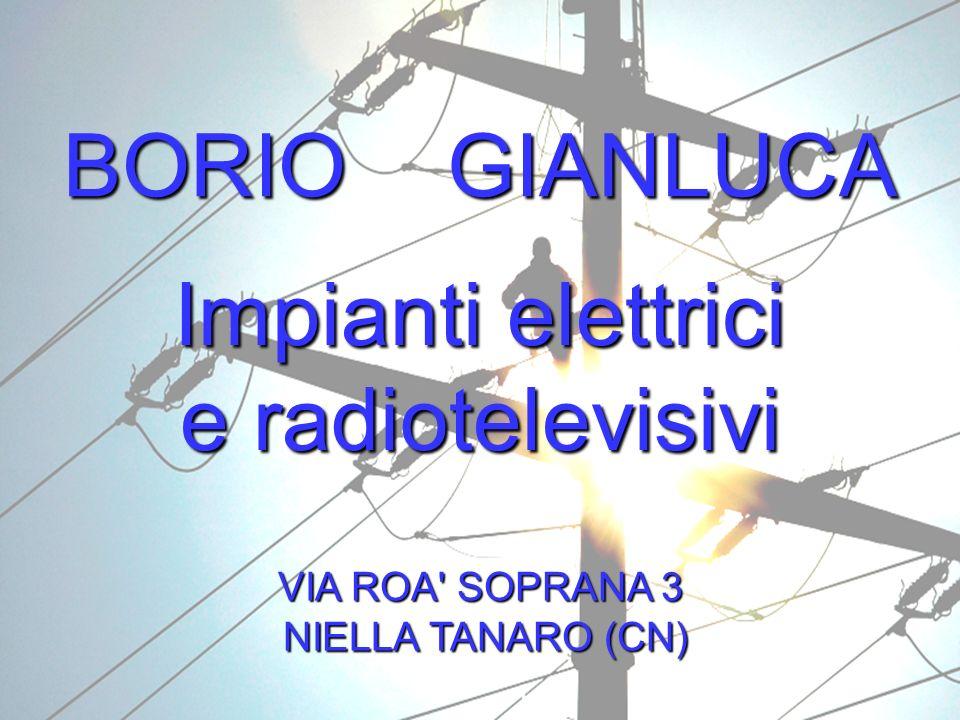 BORIO GIANLUCA Impianti elettrici e radiotelevisivi VIA ROA SOPRANA 3 NIELLA TANARO (CN) NIELLA TANARO (CN)