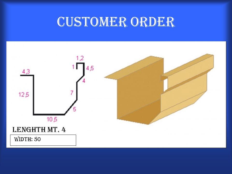 Customer Order Lenghth Mt. 4 width: 50