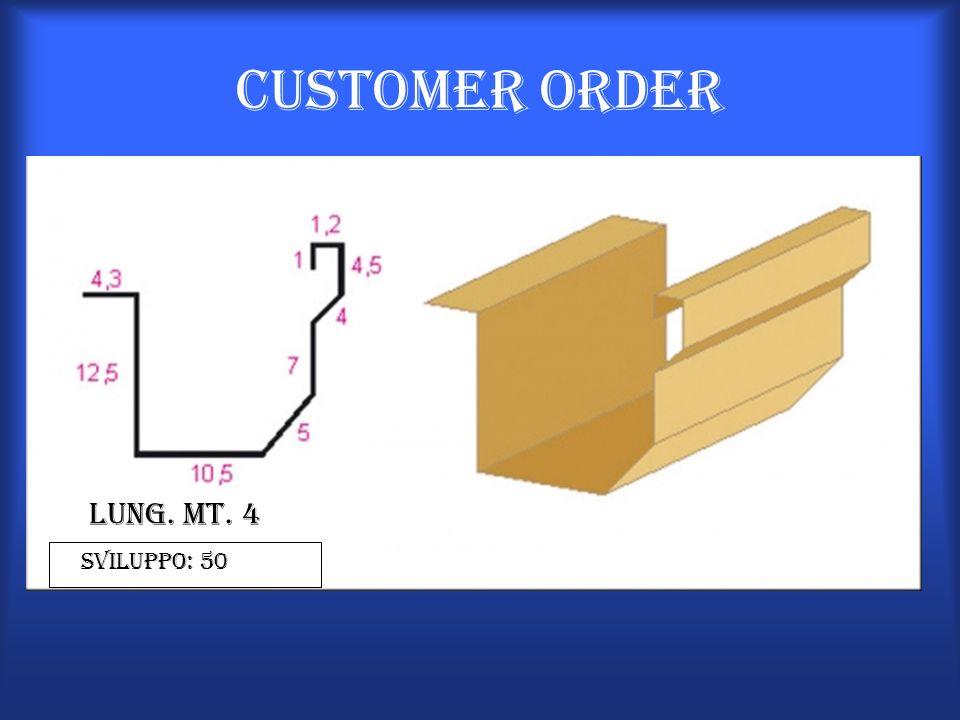 Customer Order Lung. Mt. 4 Sviluppo: 50