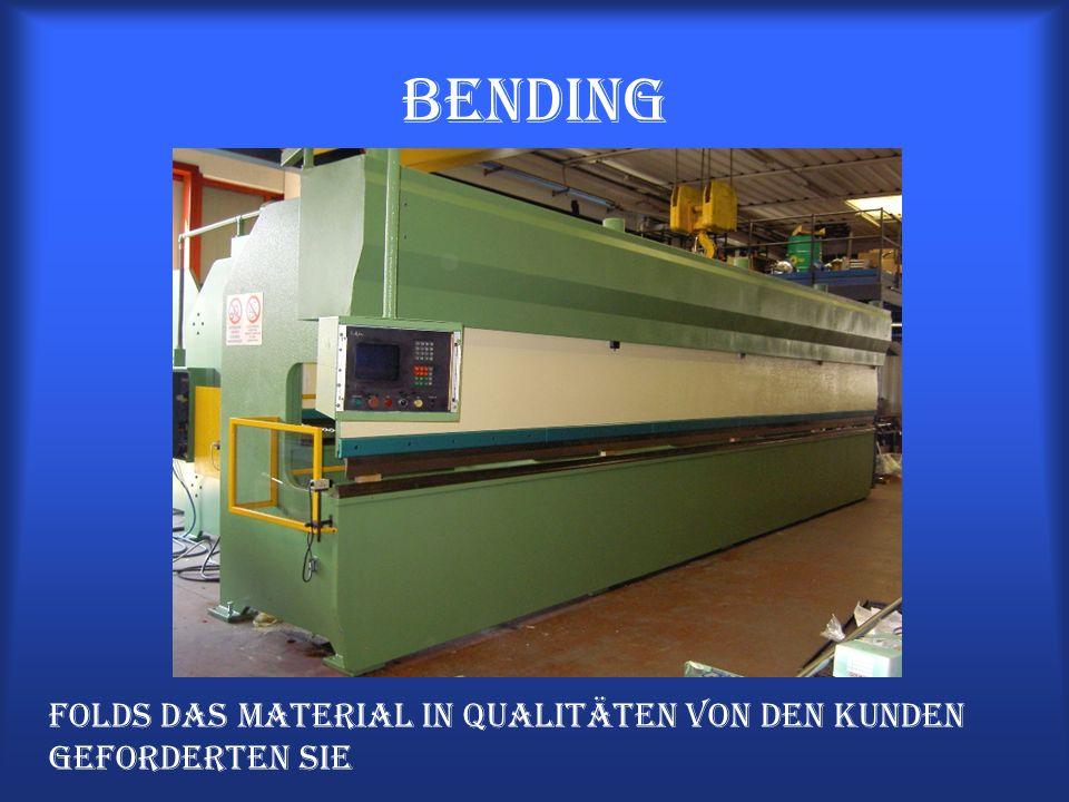 Bending Folds das Material in Qualitäten von den Kunden geforderten Sie