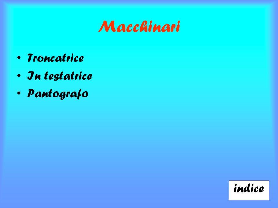Macchinari Troncatrice In testatrice Pantografo indice
