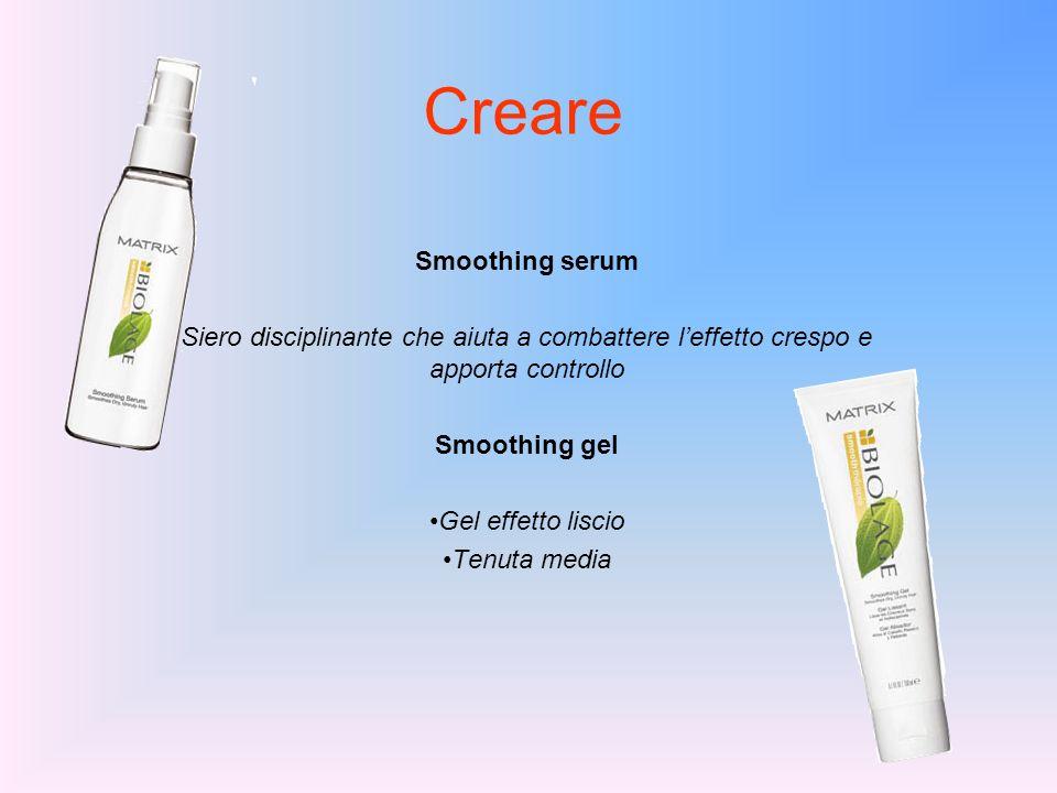 Creare Smoothing serum Siero disciplinante che aiuta a combattere leffetto crespo e apporta controllo Smoothing gel Gel effetto liscio Tenuta media