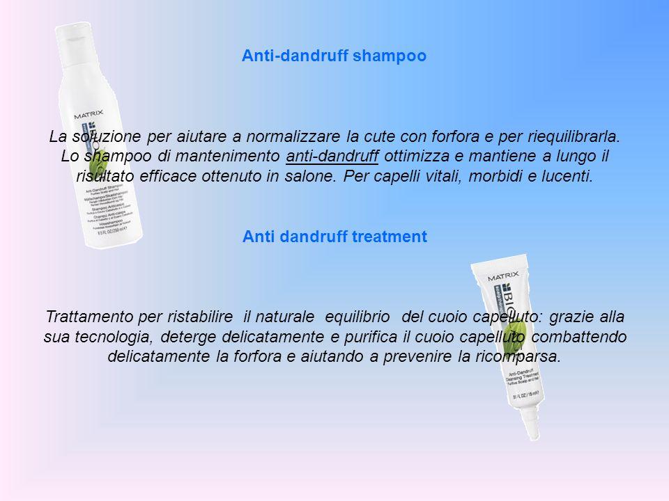 Anti-dandruff shampoo La soluzione per aiutare a normalizzare la cute con forfora e per riequilibrarla. Lo shampoo di mantenimento anti-dandruff ottim